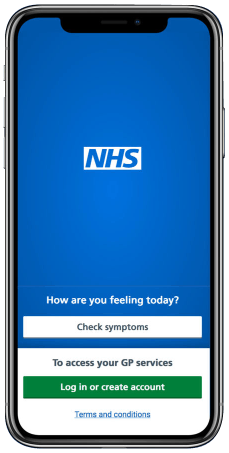NHS App featured on mobile phone